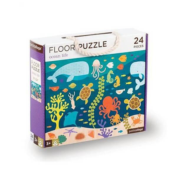 Petit Collage Kids Floor Puzzle Ocean Life
