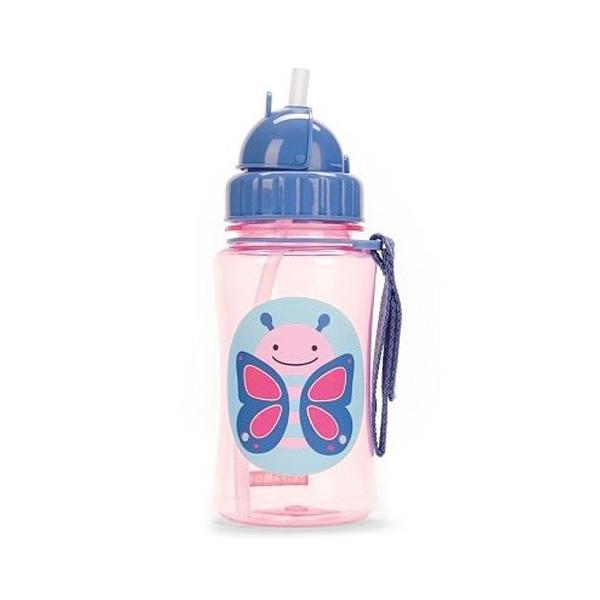 Skip Hop Flip-Straw Kids Water Bottle - 355mL